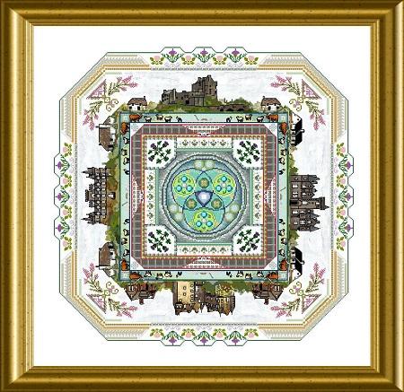 Scotland mandala by Chatelaine