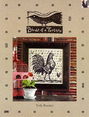 Toile rooster by Birds of a Feather