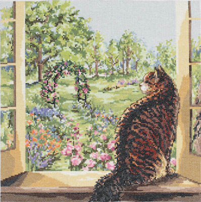 View Of The Garden by Janlynn