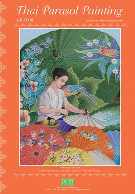 Thai Parasol Paintings by PINN