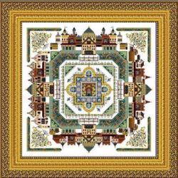 Medieval Town Mandala  by Chatelaine
