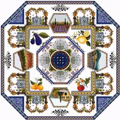 Provence Landscape Mandala  by Chatelaine