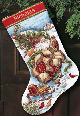 Santa's Journey Stocking-08752- by Dimensions