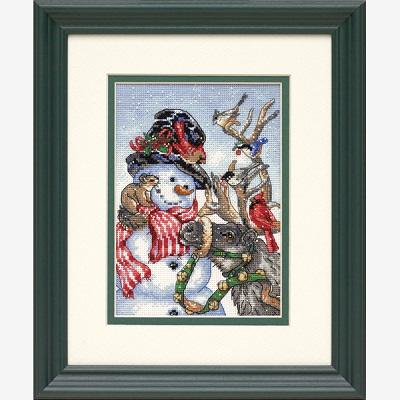 Snowman & Reindeer-08824- by Dimensions
