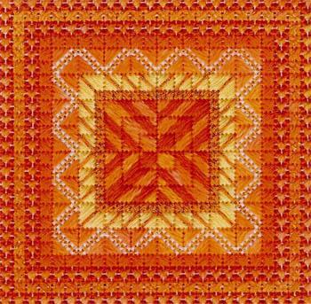 Color delights- Tangerine by Needle Delights Originals