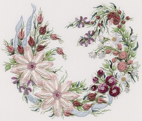 Utopia Wreath Embroidery Kit by EdMar