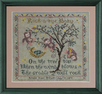Tree Top Birth Sampler by Tempting Tangles