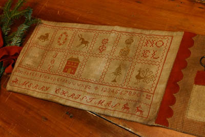 12 Days Of Christmas Sewing Roll by Stacy Nash Primitives