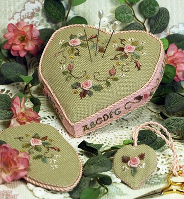 Valentine Pincushion by The Victoria Sampler