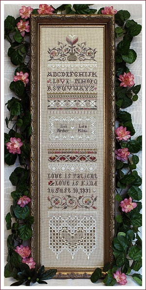 Love is Patient Sampler by The Victoria Sampler