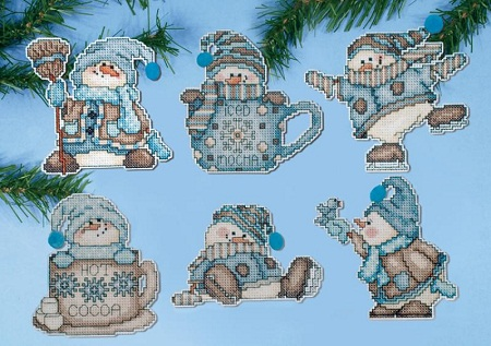 Cocoa snowmen by Design Works