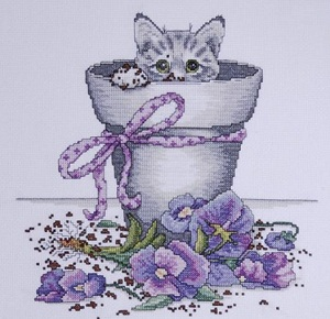 Flowerpot Kitty by Design Works