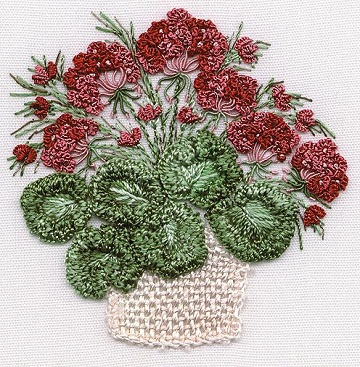 Geraniums Embroidery Kit by EdMar