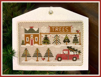 Hometown Holiday-Tree Lot by Little House Needleworks
