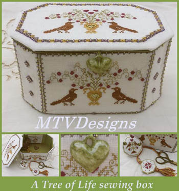Tree Of Life Sewing Box by MTV Designs