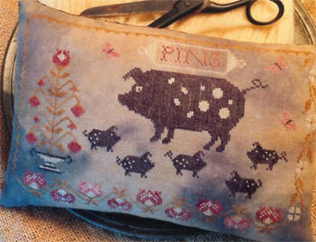 Spotted Pigs Pinkeep by Stacy Nash Primitives