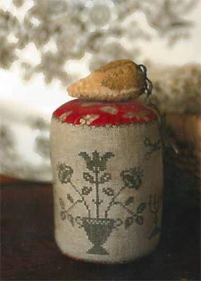 Seek Goodness Pinkeep Drum & Strawberry Emery by Stacy Nash Primitives