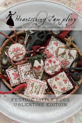 Festive Little Fobs 1 - Valentine by Heartstring Samplery