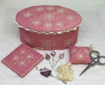Ca'Rosada - Pink Sewing Box &Lace From Venice by MTV Designs