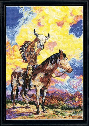 Native american sunset,2927,Design Works