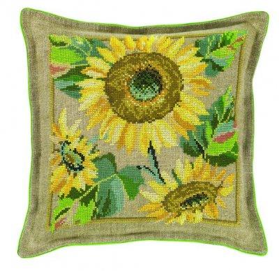 Sunflower Pillow by Eva Rosenstand