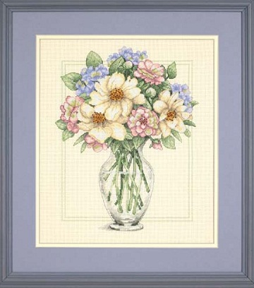 Flowers in Tall Vase-35228- by Dimensions