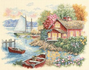 Peaceful Lake House-35230- by Dimensions