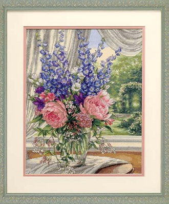 Peonies and Delphiniums-35257- by Dimensions