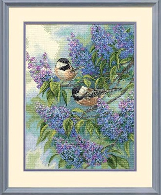 Chickadees and Lilacs-35258- by Dimensions