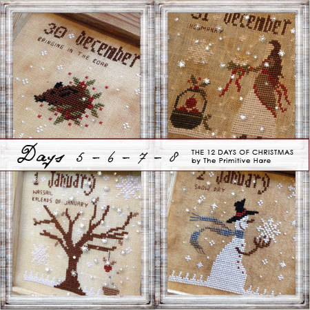 12 Days of Christmas (Days 5-8) by The Primitive Hare