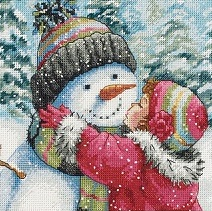 A Kiss for Snowman-70-08833- by Dimensions