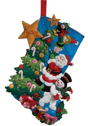 The finishing touch stocking by Bucilla