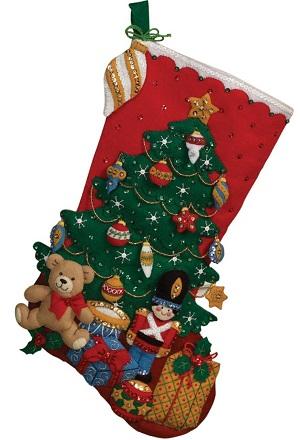 Under the tree stocking by Bucilla