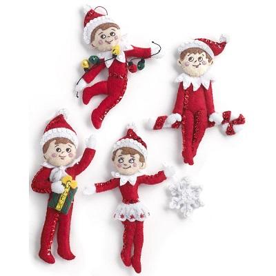 Elf On The Shelf Scout Elf Ornaments,86506,Bucilla