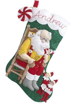 Elf On The Shelf Santa & Scout,86509,Bucilla