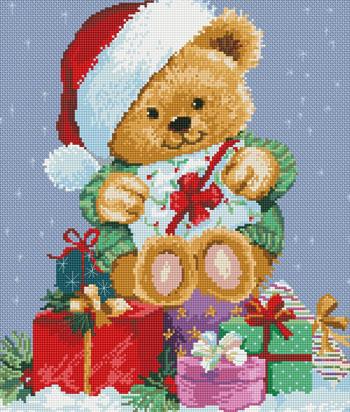 Christmas Teddy-9828- by Kustom Krafts