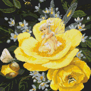 Yellow Peony Fairy-9829- by Kustom Krafts