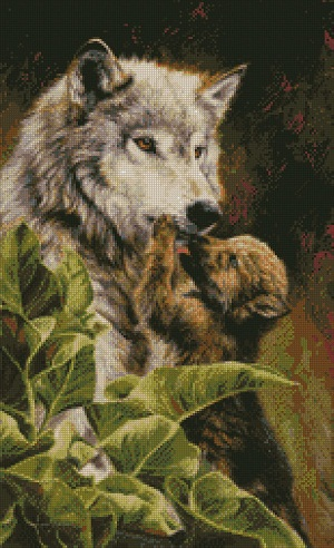 Wolf & Pup by Kustom Krafts