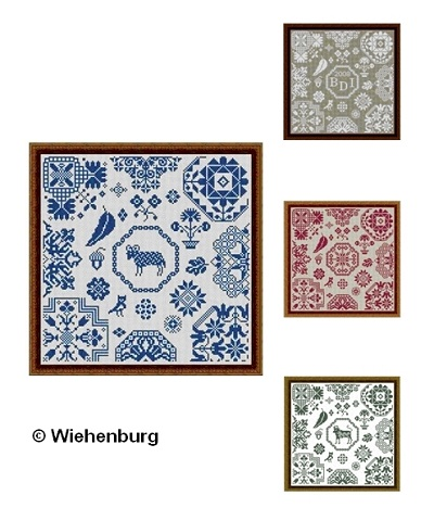 Aries / Taurus Quaker Square by Stickideen Von Der Wiehenburg