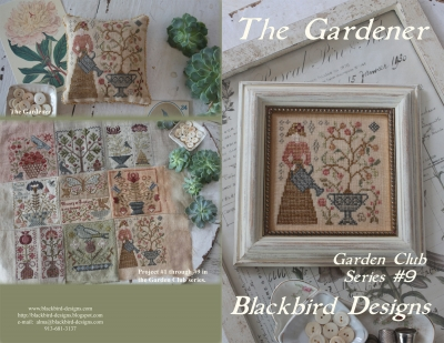The Gardener (9/12) Garden Club Series; Blackbird Designs