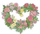 Rose Heart Wreath by Bucilla