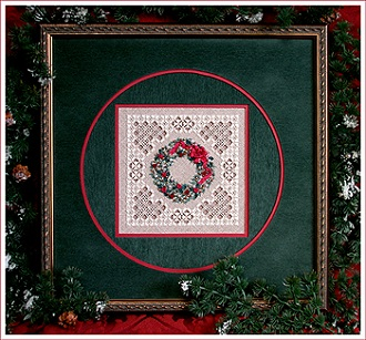 Christmas wreath by The Victoria Sampler