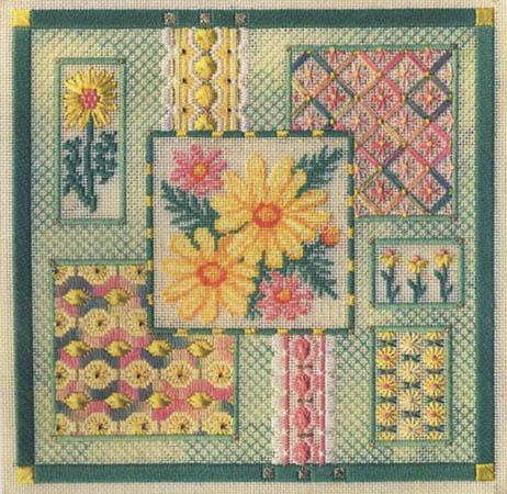 Daisy collage by Laura J.Perin Designs