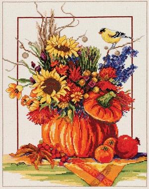 Pumpkin floral arrangement by Janlynn