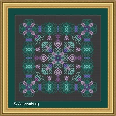 Flower Square Evelyn by  Stickideen Von Der Wiehenburg