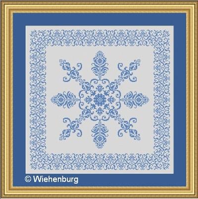 Flower Square Viola by Stickideen Von Der Wiehenburg