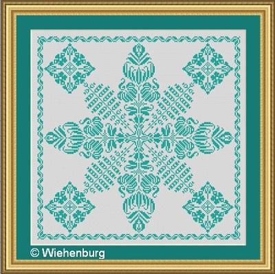 Flower Square Phoebe by Stickideen Von Der Wiehenburg