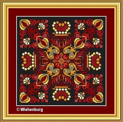 Flower Square Silke by Stickideen Von Der Wiehenburg