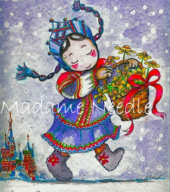 From Russia with love printed panel by Madame Needle