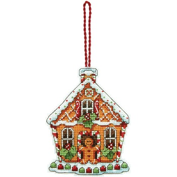 Gingerbread house ornament by Dimensions
